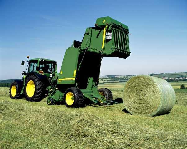 Pressage balle ronde avec john deere 592 diam tre max 1 80 - Jeu de tracteur agricole gratuit ...